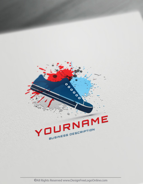 Create Your Sneakers Blue Shoes Logo Online