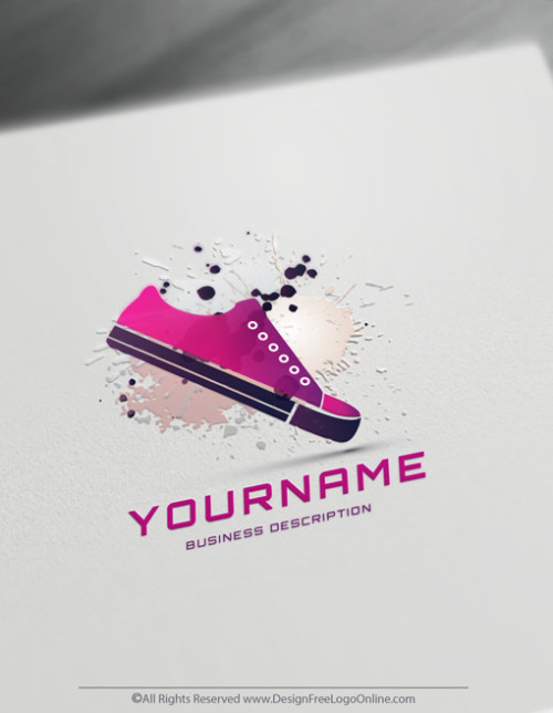 Create Your Sneakers Purple Shoes Logo Online