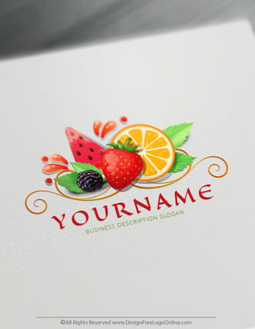 Create Your Own Online Fruit Logo Design Ideas instantly