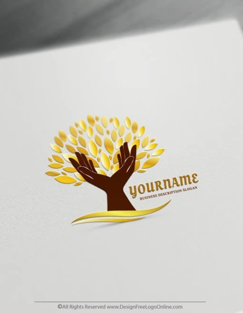 Gold Tree Logo Template
