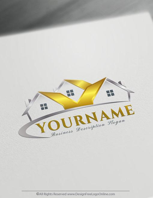 Golden Houses Real-Estate Logo Maker