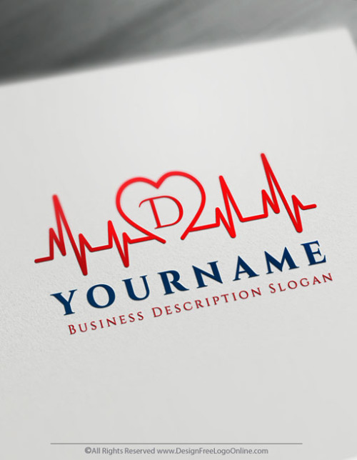Heartbeat Logo Making made simple with Free Medical Logo Creator