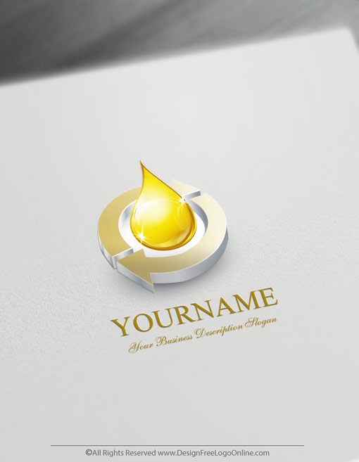 logo template Decorated with an image of a gold 3D Synergy Water.