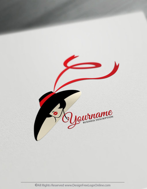 Create a Logo For Free - Woman face Logo Templates