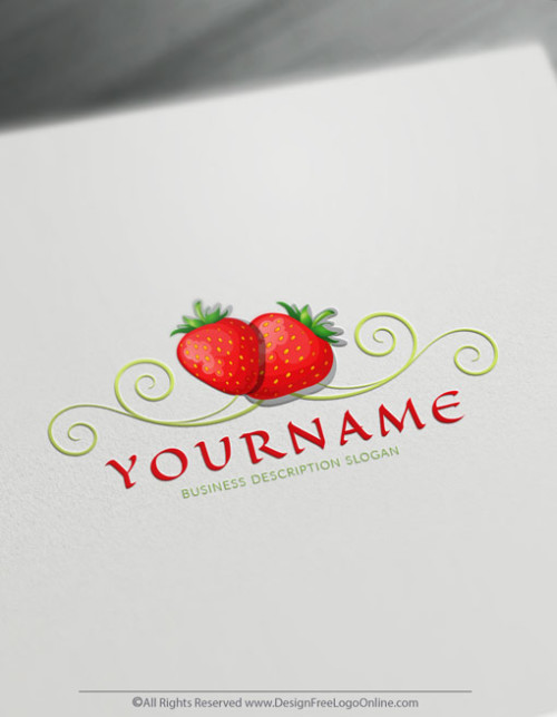 Create Your Own Online strawberry Logo Design Ideas instantly