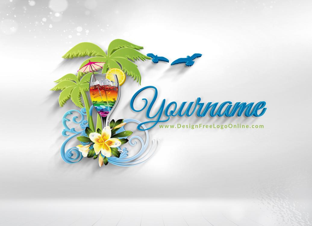 summer travel logos maker