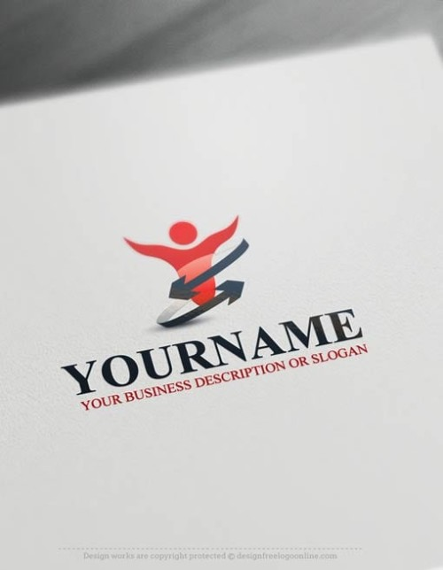 Human Logo Brand creation made simple with the logo creator.