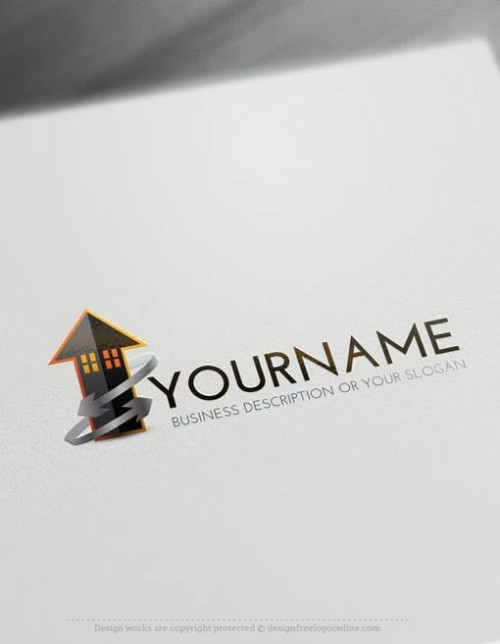 00389-Free-LogoMaker-power-arrow-house-LogoTemplates