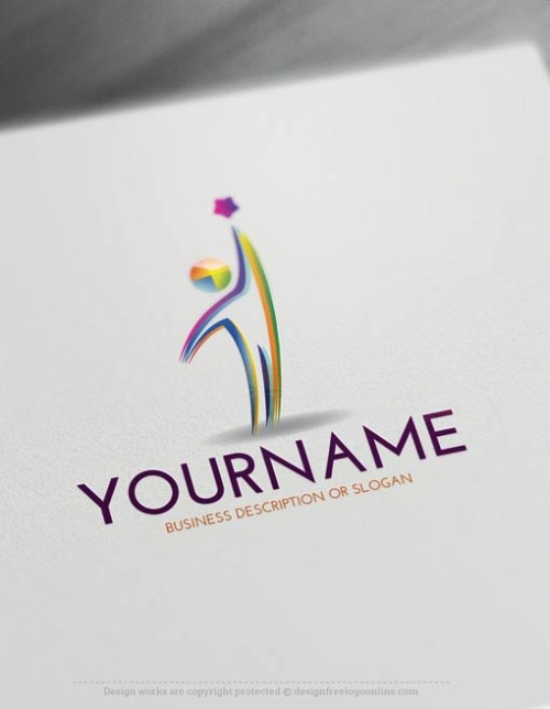 Create Man star Logo Templates Free with our Logo Maker
