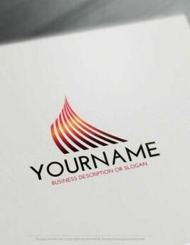 online Lines Logo Template