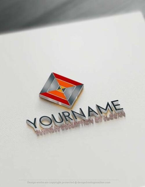 00403-Free-LogoMaker-Rhombus-LogoTemplate