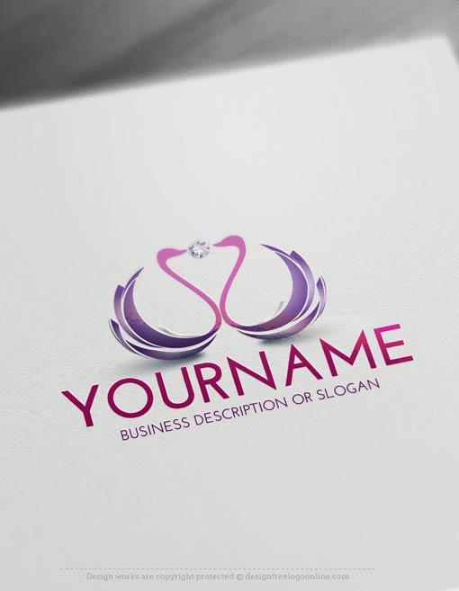 00406-Free-LogoMaker-Swans-LogoTemplate