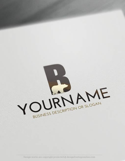 Free Logo Maker - Create your own Bear Logo Template