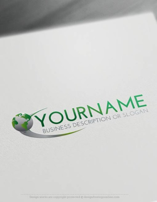 Create a Logo Free - Globe Path Logo Template