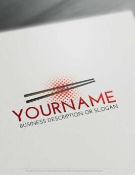 Create a logo Free - Online Chopsticks Logo Templates