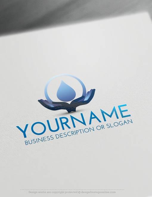 Create a Logo Free - Water logos - Drop Logo Template