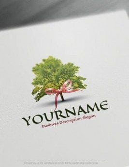Create a Logo Free - Online Gift Tree Logo Templates
