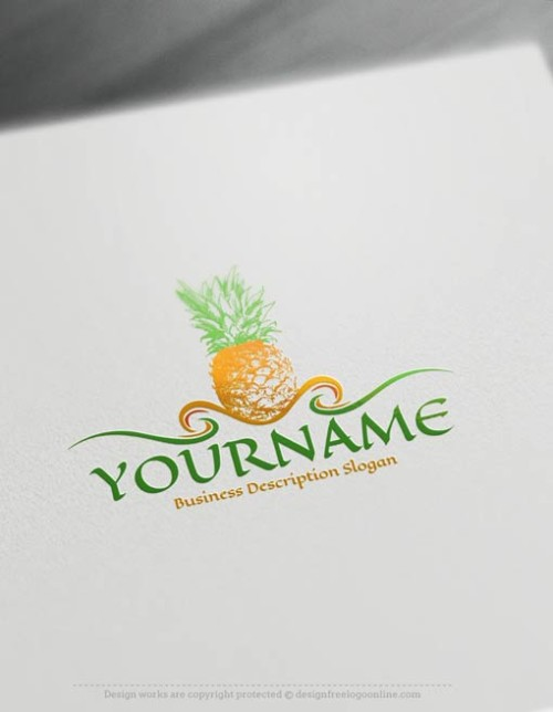 00424-Free-Logo-Maker-Pineapple-LogoTemplates