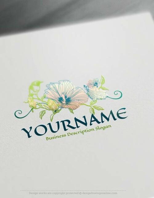 00425-Free-Logo-Maker-vintage-flower-LogoTemplate
