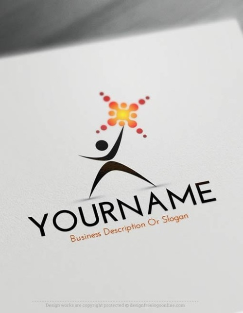 00429-Free-Logo-Maker-man-sun-LogoTemplate - עותק