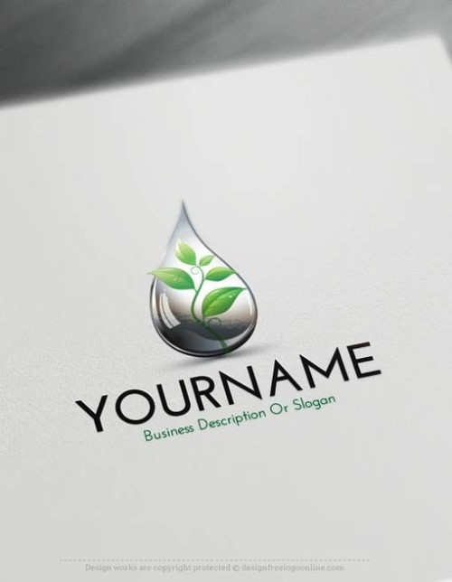 Ready made Online natural oil Drop Online Logo Template. Customize This logo with our free logo maker tool.