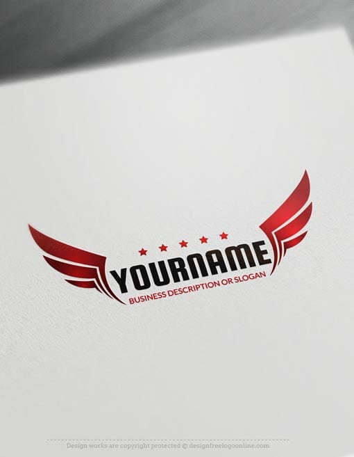 00433-Free-Logo-Maker-wings-LogoTemplate
