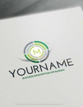 Free Logo Maker - Online Initials Target Logo Template