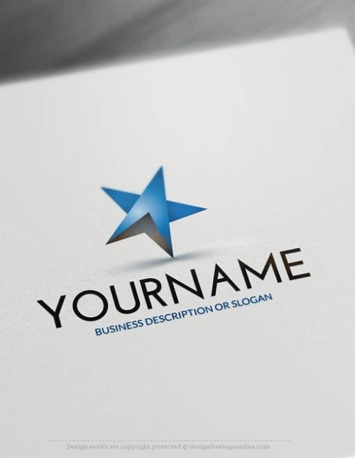 Create a Logo Free - Online Blue star Logo Templates - free logo maker