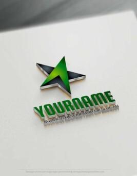 Design Amazing 3D Black Star Logo online - Customize free online