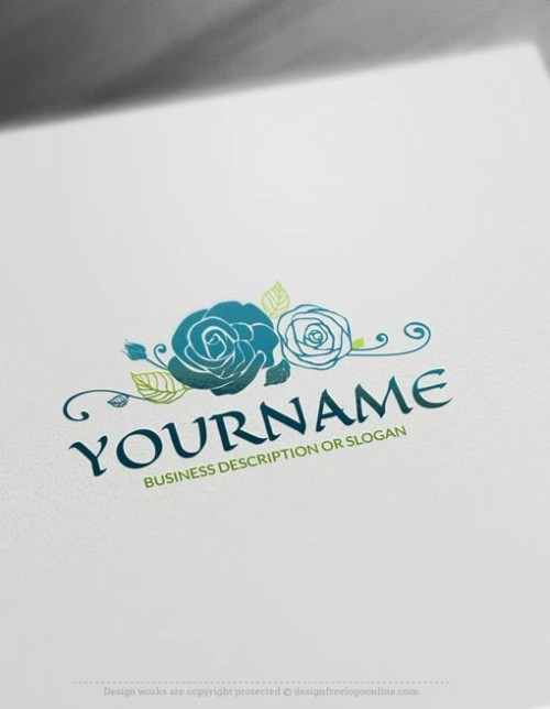 Create a Your Own Rose Logo Online using the Vintage Logo Maker