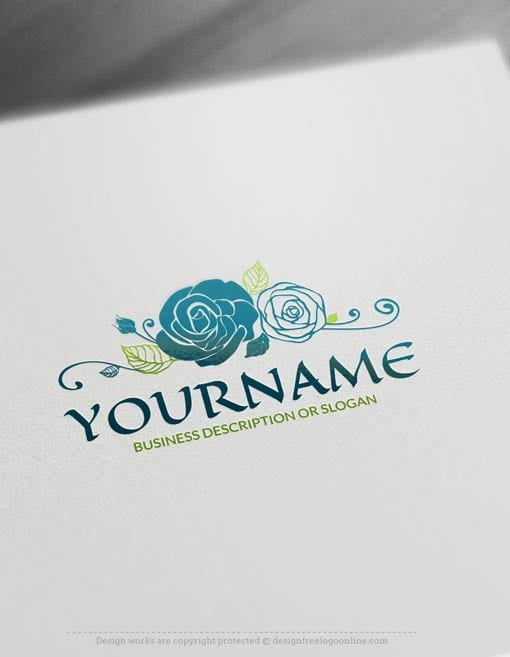 Create A Vintage Logo Free Online Rose Logo Template
