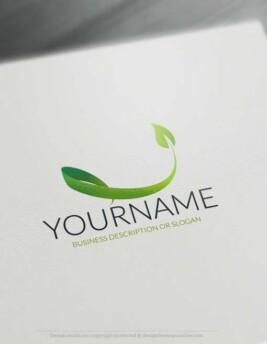 00441-Free-Logo-Maker-leaf-LogoTemplate