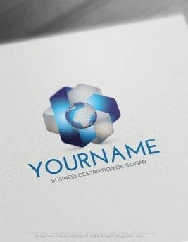 00442-Free-Logo-Maker-earth-Logo-Template