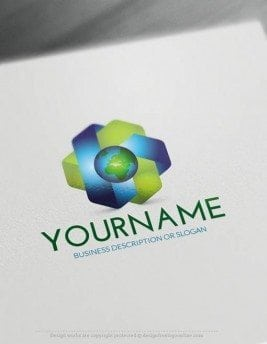 00442-Free-Logo-Maker-earth-LogoTemplate