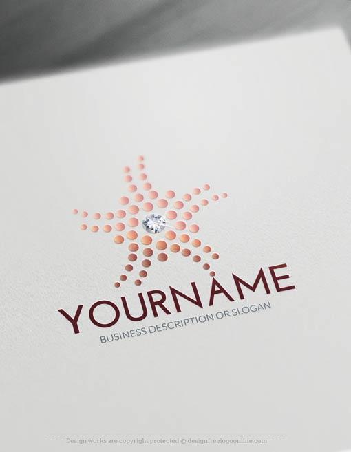 00443-Free-Logo-Maker-diamond-flower-Logo-Template
