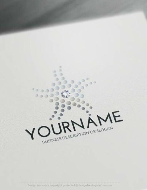 00443-Free-Logo-Maker-diamond-flower-LogoTemplate