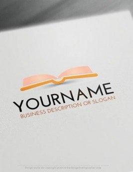 Free Logo Make book LogoTemplate