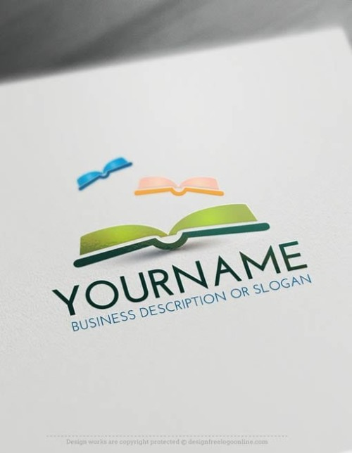 00446-Free-Logo-Make-books-LogoTemplate