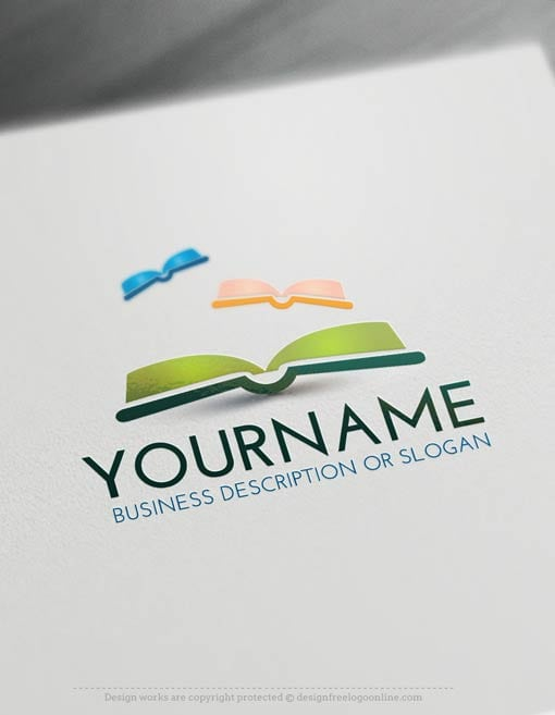 00446-Free-Logo-Make-books-LogoTemplate