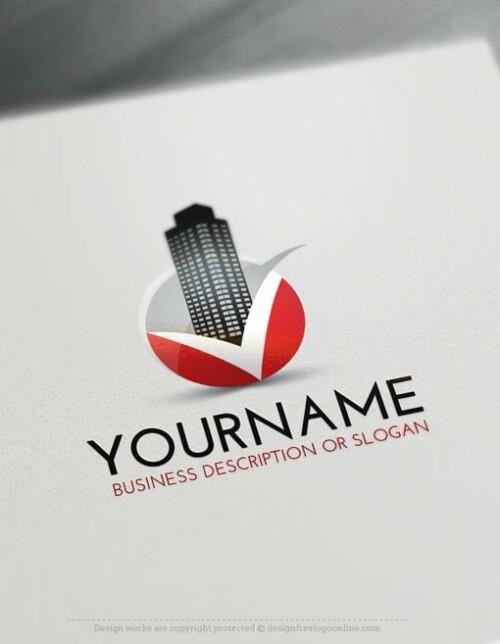 00447-Free-Logo-Make-Real-Estate-V-LogoTemplate