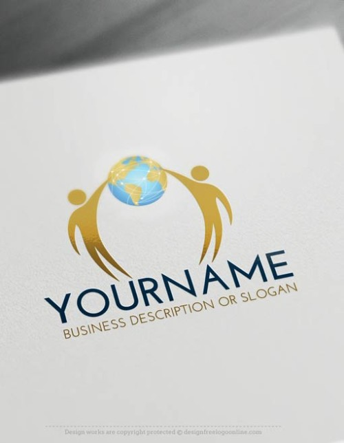 00449-Free-Logo-Maker-people-globe-LogoTemplate