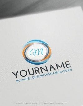 design your own Initials Spiral logo design with the best free logo Creator