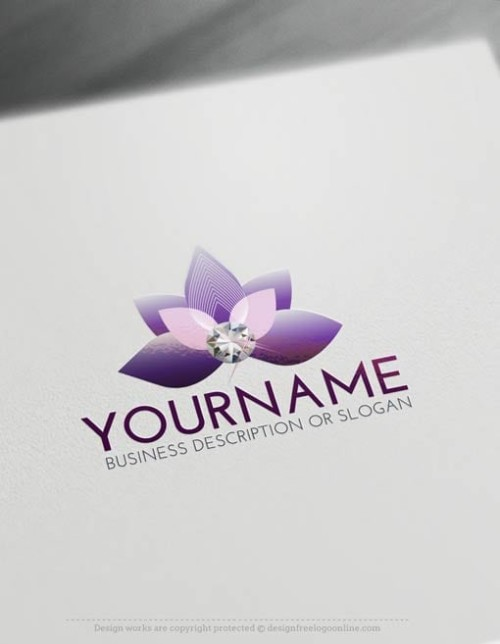 Create a logo with our free logo maker tool. Buy this affordable Diamond Flower Logo Templates