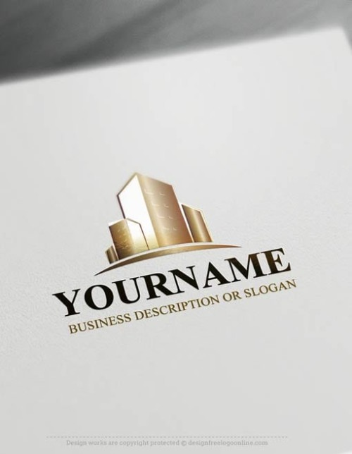 Free Logo Maker realty Logo Template