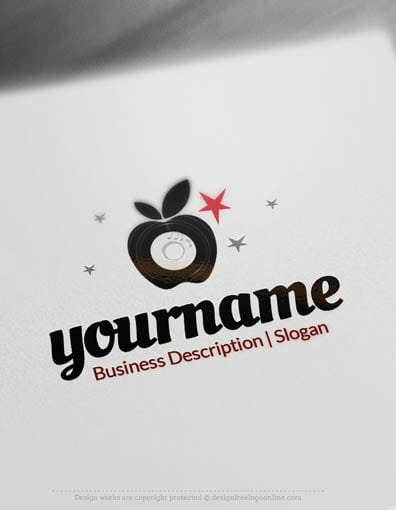 00703-Disco-Apple-design-free-logos-online1