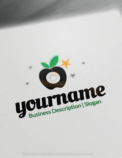 00703-Disco-Apple-design-free-logos-online2