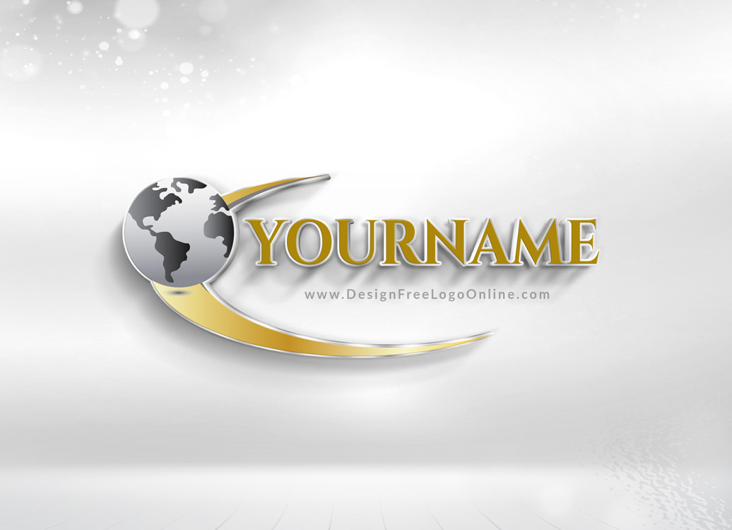 3D Globe Logo Maker