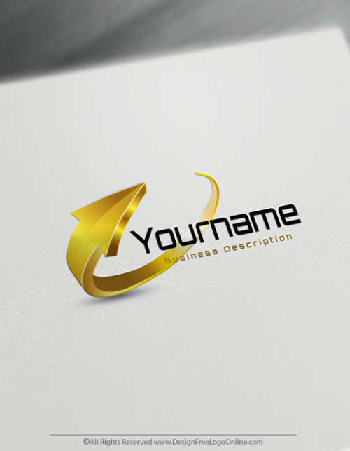 Create Gold Arrow Logo Design With The Free 3D Logo Maker