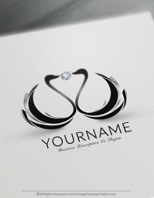 Create Beautiful Black Swans Logo Design Ideas