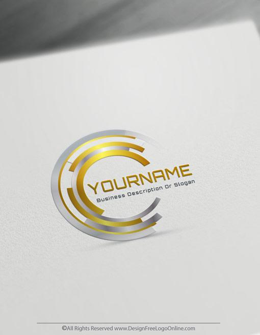 Business Golden Target Logo Template